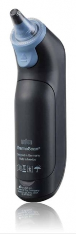 Braun Thermoscan 7 with Age Precision back view