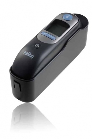 Braun Thermoscan 7 with Age Precision cradle view